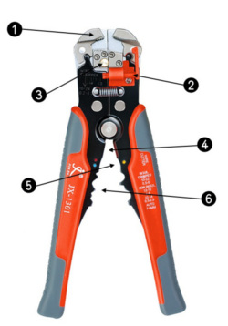 profesjonalne szczypce do zaprawiania kabli stripowania przewodów zdejmowania izolacji przycinania zaciskarka do konektorów elektrycznych